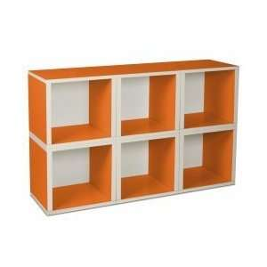 6 Stackable Open Modular Eco Storage Cubes: Toys & Games