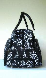 20 Duffel/Tote Bag Rolling Luggage/Wheels Purse Floral