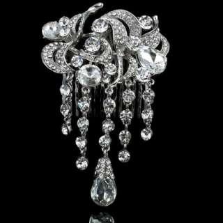 ARINNA charming fashion lady head Hair Pin Claw Clasp Clip Swarovski