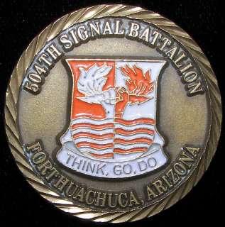 504th Signal Battalion Fort Huachuca, Arizona Challenge Coin
