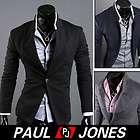 PJ Korean Fashion Mens Casual Slim Fit Suit Sport Coat Blazer Fall