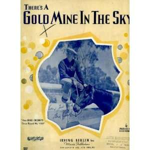 Theres a Gold Mine In the Sky Vintage 1937 Sheet Music recorded by