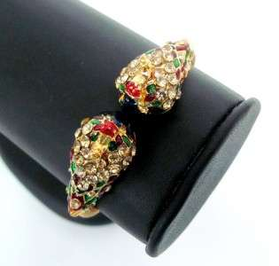 INDIA GOLD PLATED ENAMEL WOMEN BANGLE BRACELET JEWELRY