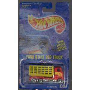 1992 237 Ford Stake BED Truck All Blue Card NEW Paint Style 164 Scale