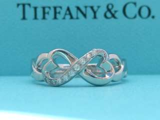 TIFFANY & CO. PALOMA PICASSO DOUBLE LOVING HEART RING 7