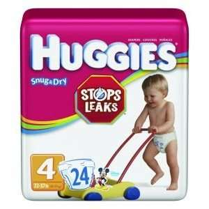 Huggies Snug & Dry Disposable Diapers    Case of 96    KBC52124: Baby