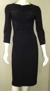 BCBG   MAX AZRIA Black Slinky Ruched Dress Small S