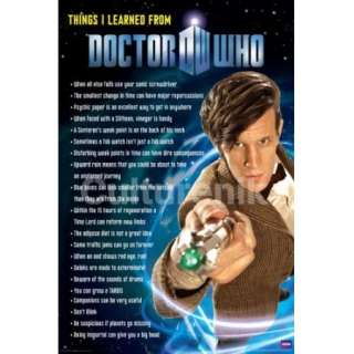 learned From Doctor Who 24 x 36 Poster, Matt Smith NEW ROLLED