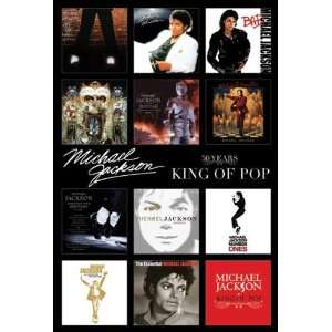 MICHAEL JACKSON ALBUM COVERS WALL POSTER