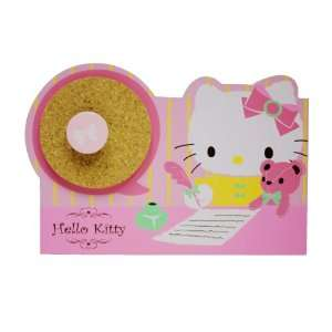 Pink Hello Kitty Pencil Holder with Small Coark Board