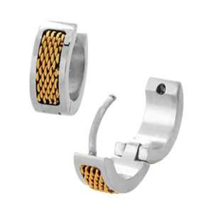Inox Jewelry 316 Stainless Steel pvd Gold Tone Mesh Bar