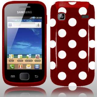 London Magic Store   Red Polka Dots Gel Case For Samsung Galaxy Gio