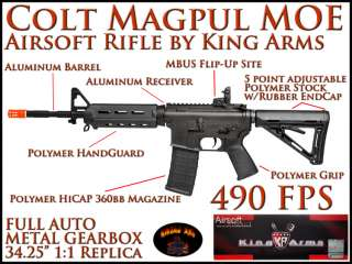 Colt M4 Magpul MOE Black METAL/Polymer Electric Airsoft Rifle M4A1 AEG
