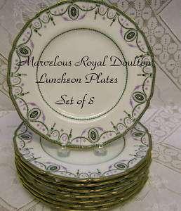 PC ANTIQUE ROYAL DOULTON LUNCHEON PLATES