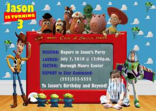 TOY STORY CUSTOM BIRTHDAY INVITATIONS