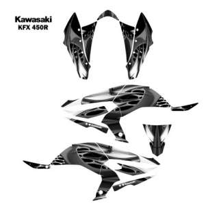 Kawasaki KFX450R ATV Graphic Decal Sticker Kit 4444METAL