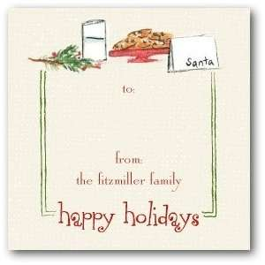Personalized Holiday Gift Tag Stickers   Santas Snack By