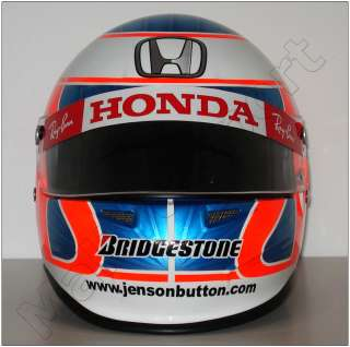 JENSON BUTTON 2008 F1 HONDA REPLICA HELMET SCALE 11