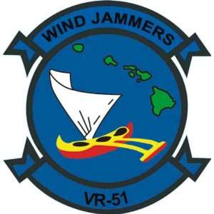 US Navy VR 51 Wind Jammers Squadron Decal Sticker 3.8