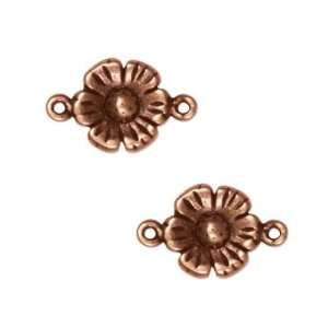 Antiqued Copper Plated Flower Connector Link 16mm (2