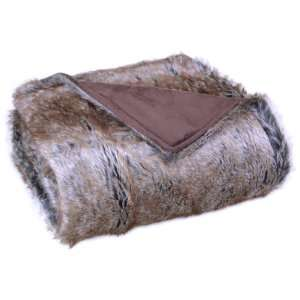 Bedford Cottage Luxurious Eskimo Faux Fur Throw, Brown: Home & Kitchen