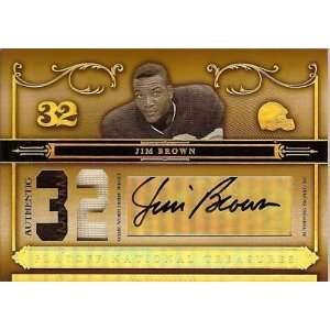 06 Playoff JIM BROWN Game Worn 2 color Patch/Auto /32