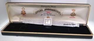 Jules Jurgensen Ladies 14k White Gold & Diamond + Box