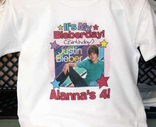 Personalized Justin Bieber Birthday T Shirt
