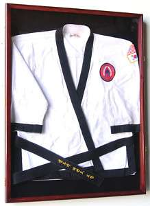 Karate Martial Arts Belt Uniform Jersey Display Case L