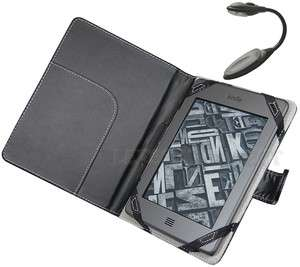 Leather Case Cover Sleeve for  Kindle Touch Reader+LED Light