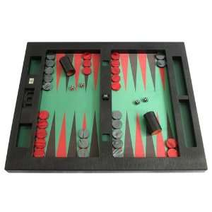 Leather/Microfiber Table Top Backgammon Set   (26 Extra