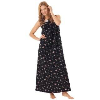 Womens Cotton Full Length Sleeveless Nightgown   Sleepwear with Wide