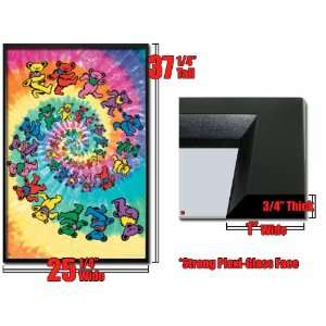 Framed Grateful Dead Poster Spiral Bears Tie Dye: Home & Kitchen