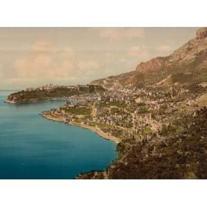 Poster   General view of the principality Monaco Riviera 24 X 18