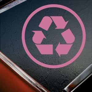 Recycle Pink Decal Clean Evironment Truck Window Pink