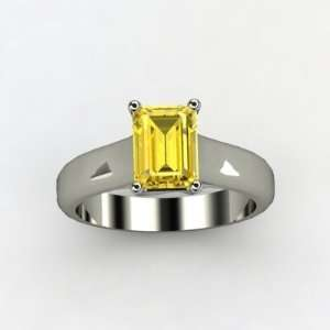 Yellow Vs2 Natural Emerald Cut Certified Diamond Engagement Ring