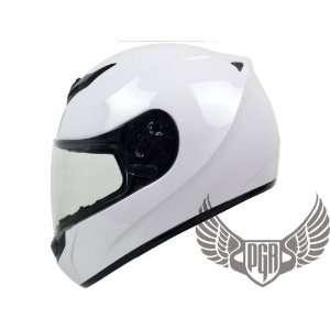 Arrow Full Face DOT Approved Motorcycle Helmet (Medium, Gloss White