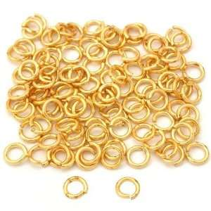 100 Real Gold Plated Open Jump Rings Connectors 5mm Arts