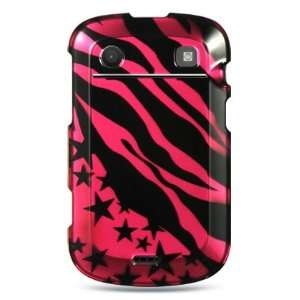 Pink Zebra Star Design Protector Case for Blackberry Bold Touch 9900