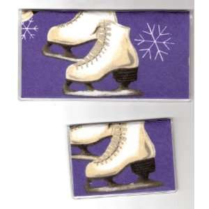 Checkbook Cover Debit Set Ice Skate Skates
