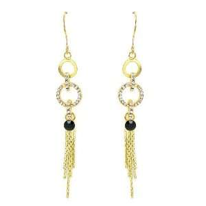 Perfect Gift   High Quality Glistering Circular Earrings with Tassels