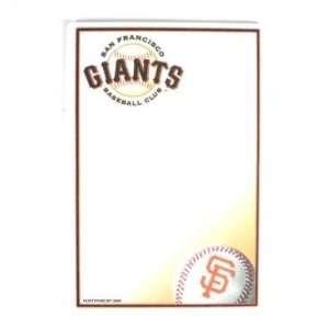 San Francisco Giants 5x8 Notepad   50 Sheets Office