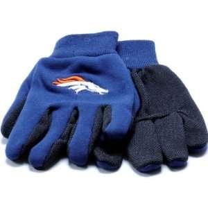 Denver Broncos NFL Team Work Gloves