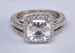 75Ct Asscher Cut Engagement Ring 14K Solid Gold