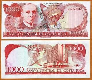 Costa Rica, 1000 (1,000) Colones 2004 P 264 (264e), UNC