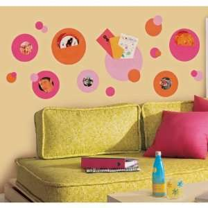 Colorful Multi Size Circles Peel & Stick Wall Pockets: Home & Kitchen
