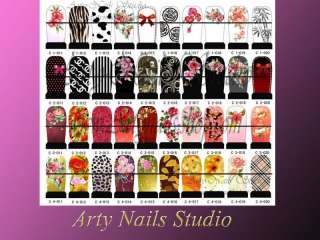 2011  water nail art sticker ,nail art decals C1 C8