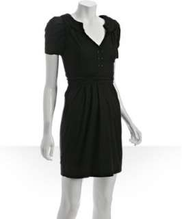 BCBGeneration black cotton blend puff sleeve shirt dress   up