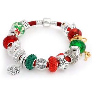 Jewelry .925 Silver Christmas Live Love Laugh Pandora Style Bracelet