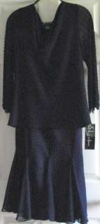 Fashions Mother of Bride navy blue dress size 12